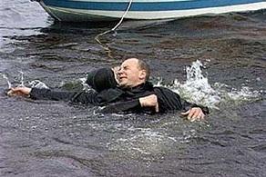 Человек в ледяной воде - утопление - техника спасения